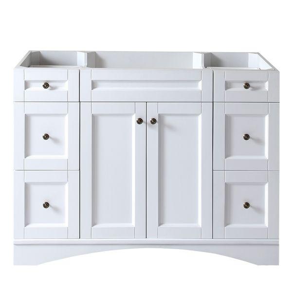Virtu USA Elise 48-inch White Single-sink Cabinet Only Bathroom Vanity - Overstock™ Shopping - Great Deals on VIRTU Bathroom Vanities