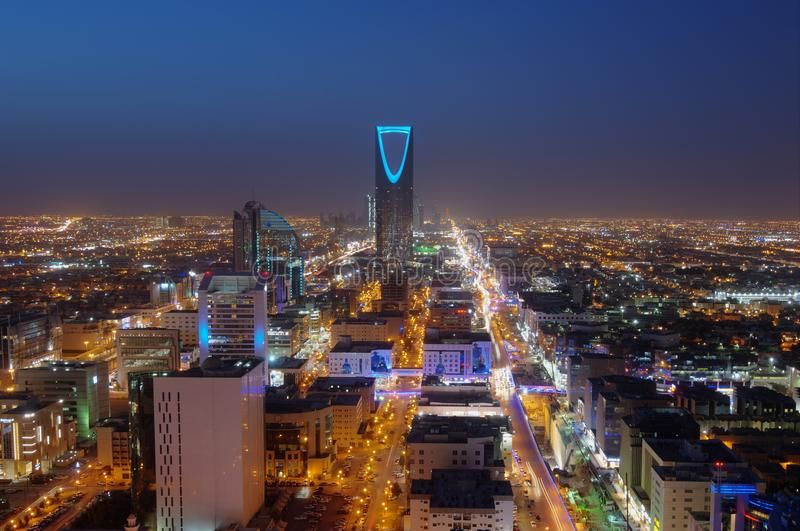 Riyadh Skyline At Night Riyadh Skyline Travel Advisory