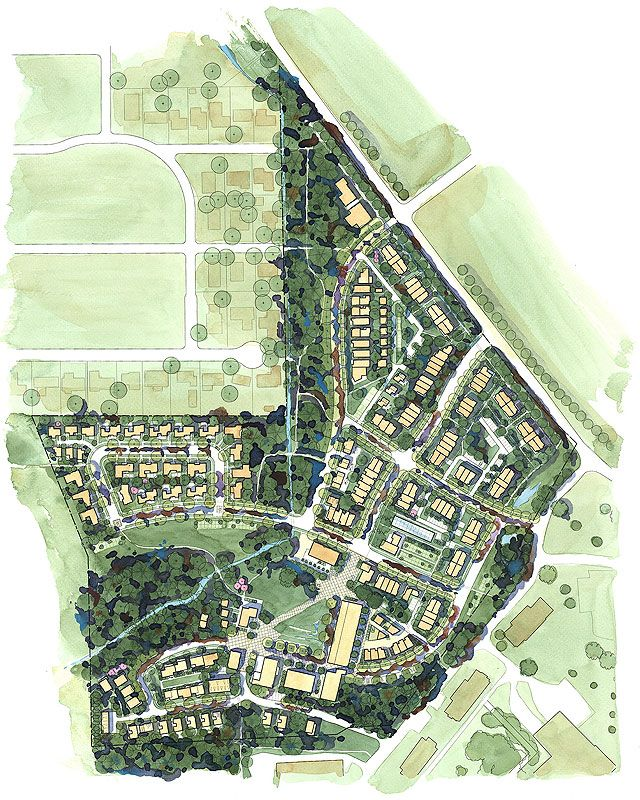 Landscape Architecture Plan Graphics pringle creek community site plan | antidote for suburbia: new