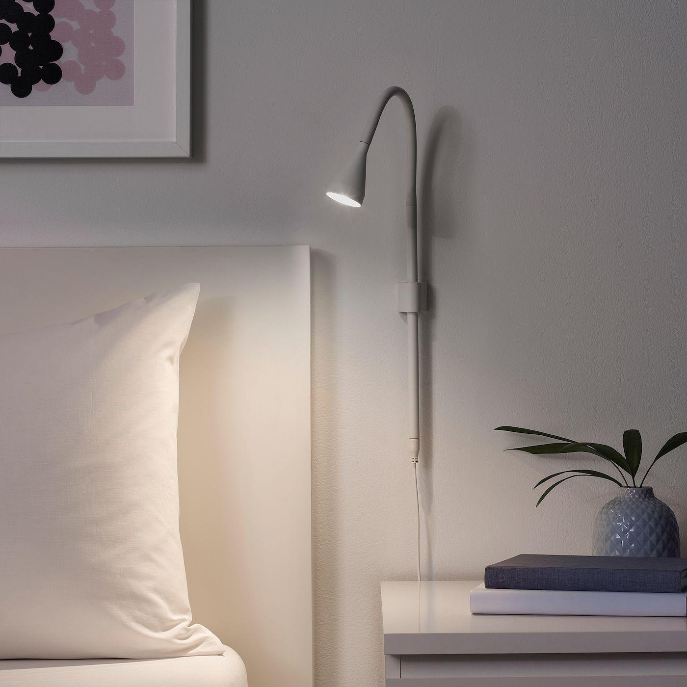 IKEA NÄVLINGE LED wall/clamp spotlight white in 2020