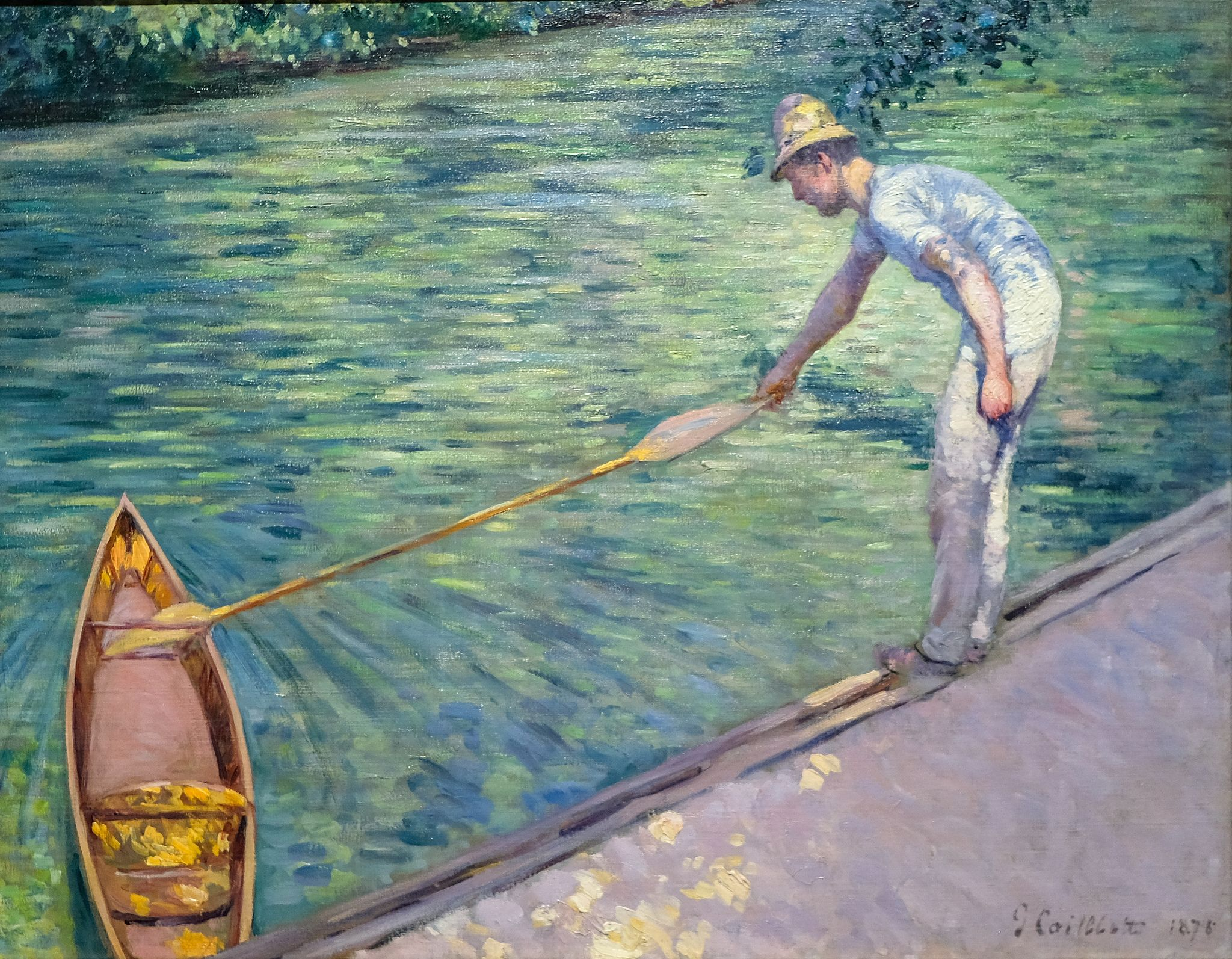 Gustave Caillebotte A Man Docking His Skiff 1878 3 10 19 Fristartmuseum Yerres Impressionism Painting Impressionist Paintings