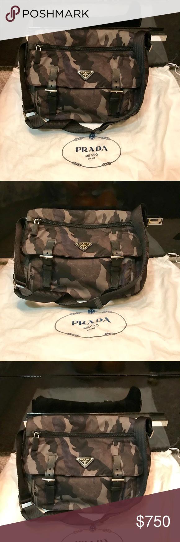 102052ccf9 PRADA Camouflage messenger bag Prada Tessuto Camouflage Messenger ...