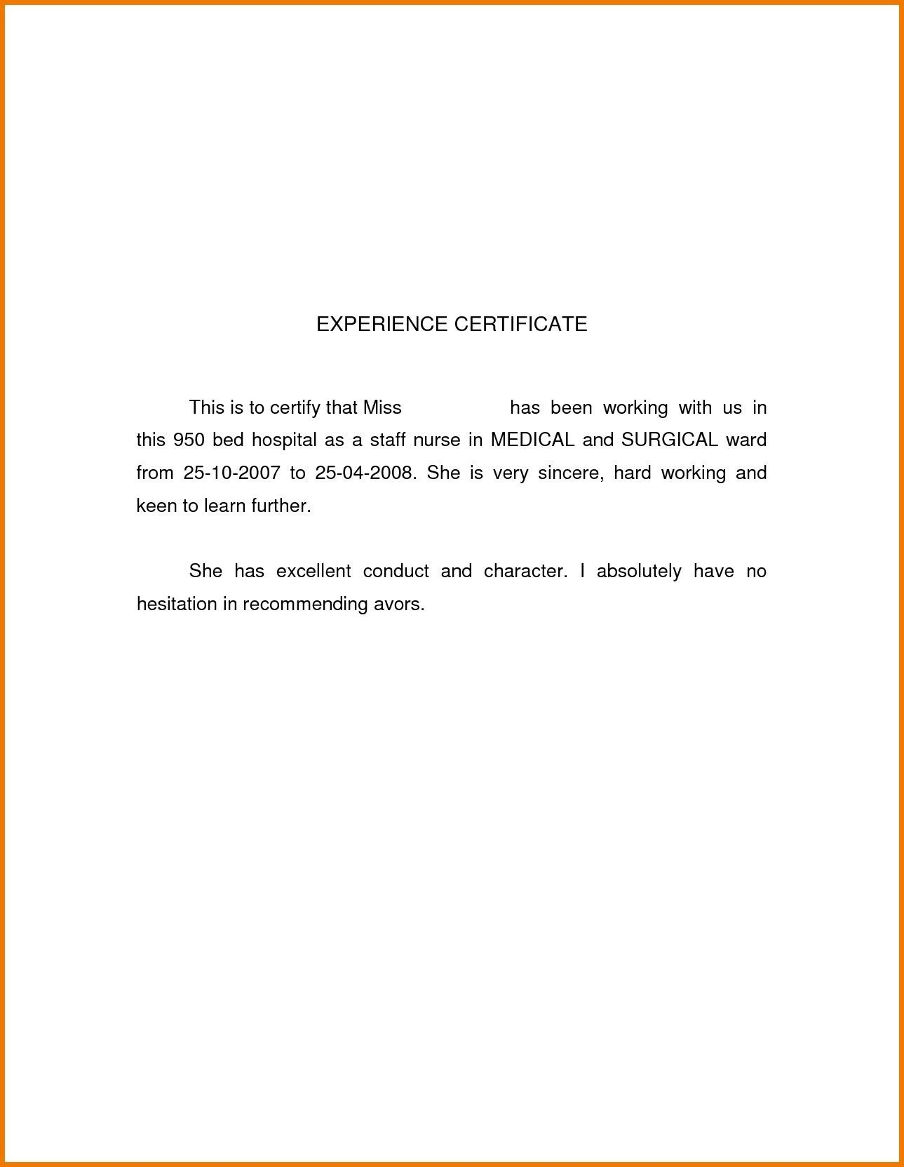Save Hotel Work Experience Certificate Sle New How To No