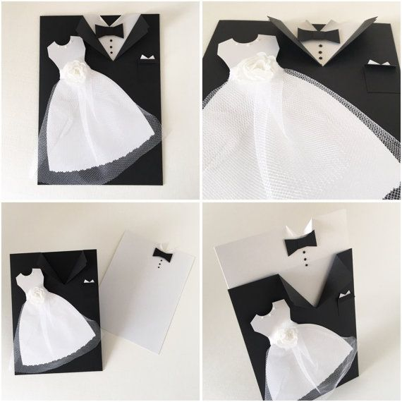 Wedding Card, Mr and Mrs, Bride and Groom Congratulations Card, Tuxedo - Wedding Gown Card, Wedding Money Holder Card This listing is for one (1) Tuxedo/ Gown Card Card measures approx: 4.5 x 6 Tag measures slightly smaller Card ships with envelope via USPS within 3-5 This card does