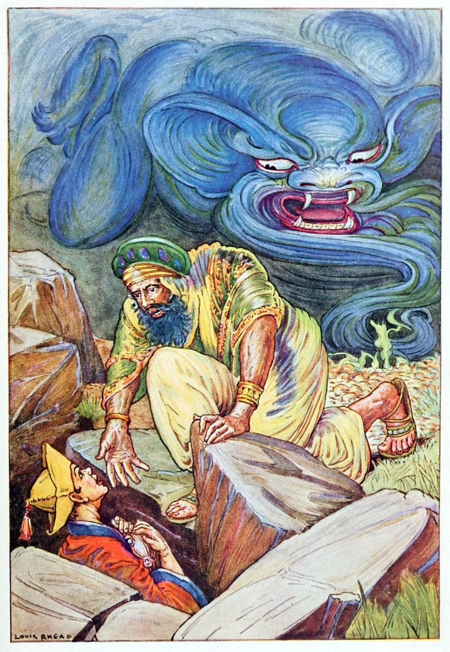 As Soon As Aladdin Saw Him He Cried Out Pray Uncle Lend Me Your Hand To Help Me Out Give Me The Lamp F Arabian Nights Night Illustration The Magicians