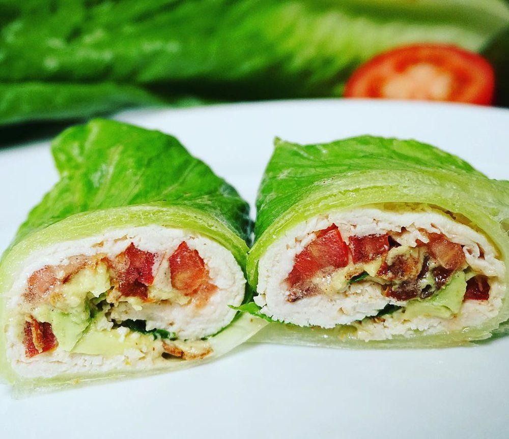 Chicken avo blt wrap with chipotle mayo blt wraps