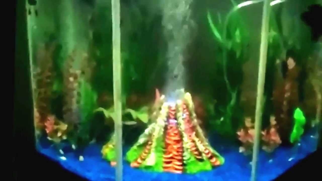 Aquarium Volcano with color changing led and bubbler | Tanked ...