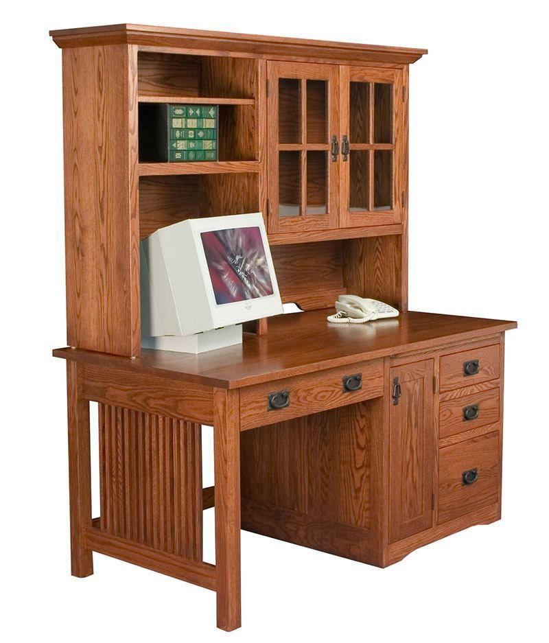 Mission Computer Desk 101 Deutsch Furniture Gallery Solid Wood Office Furniture Solid Wood Office Desk