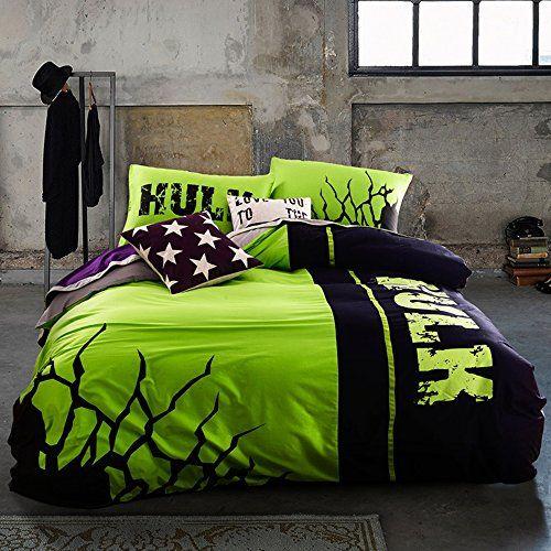 Incredible Hulk Bedding Set Queen Size Marvel Super Hero Comforter