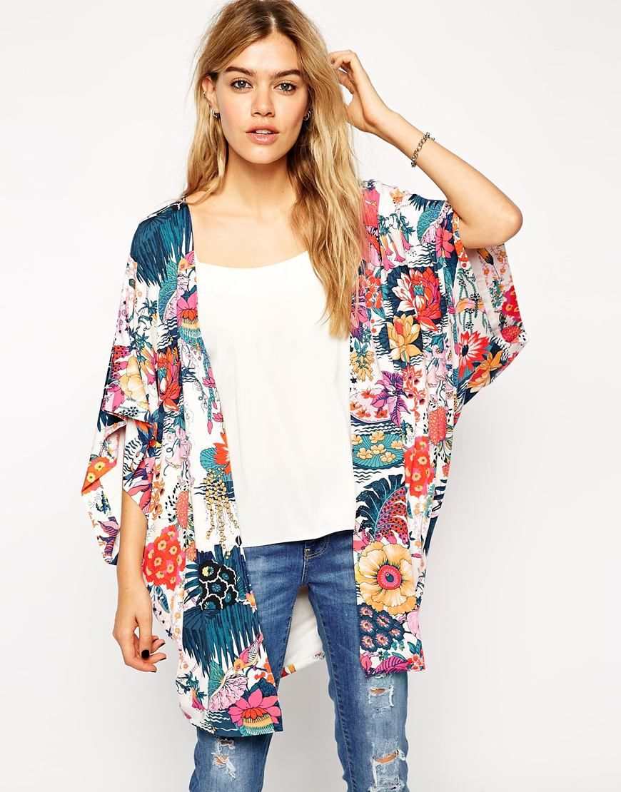 A colorful Japanese floral kimono from ASOS. In So Cal this can be ...