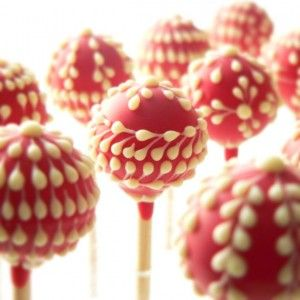 Raspberry creme lollipops, created by the lovely Zukr Boutique