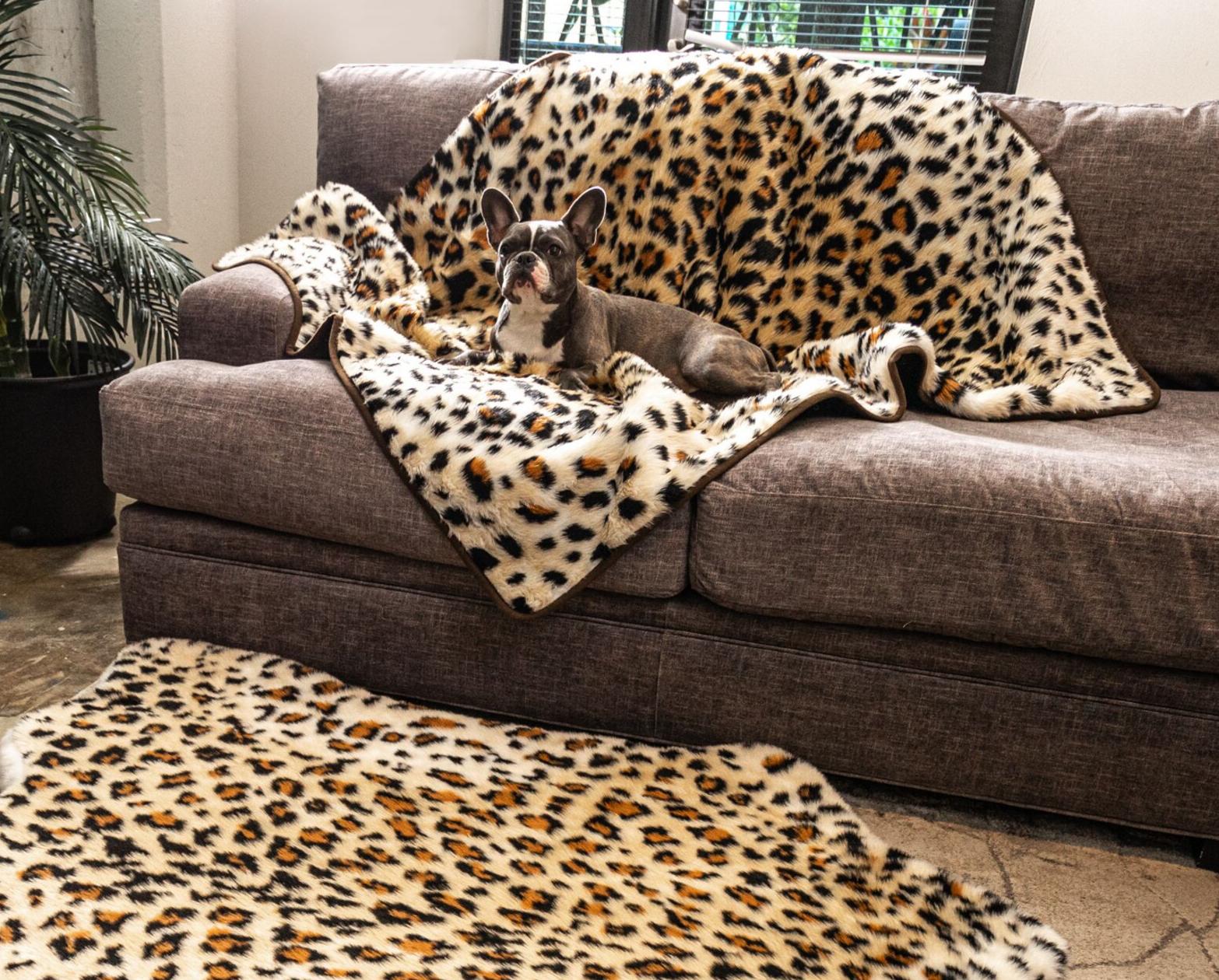 PupProtector™ Waterproof Throw Blanket Cheetah Faux