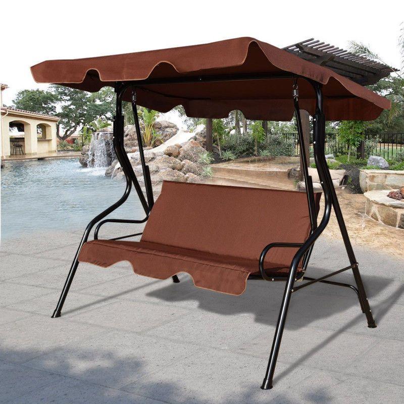 Outdoor Garden Swing Chair Cushioned Bench Seat Swinging Hammock