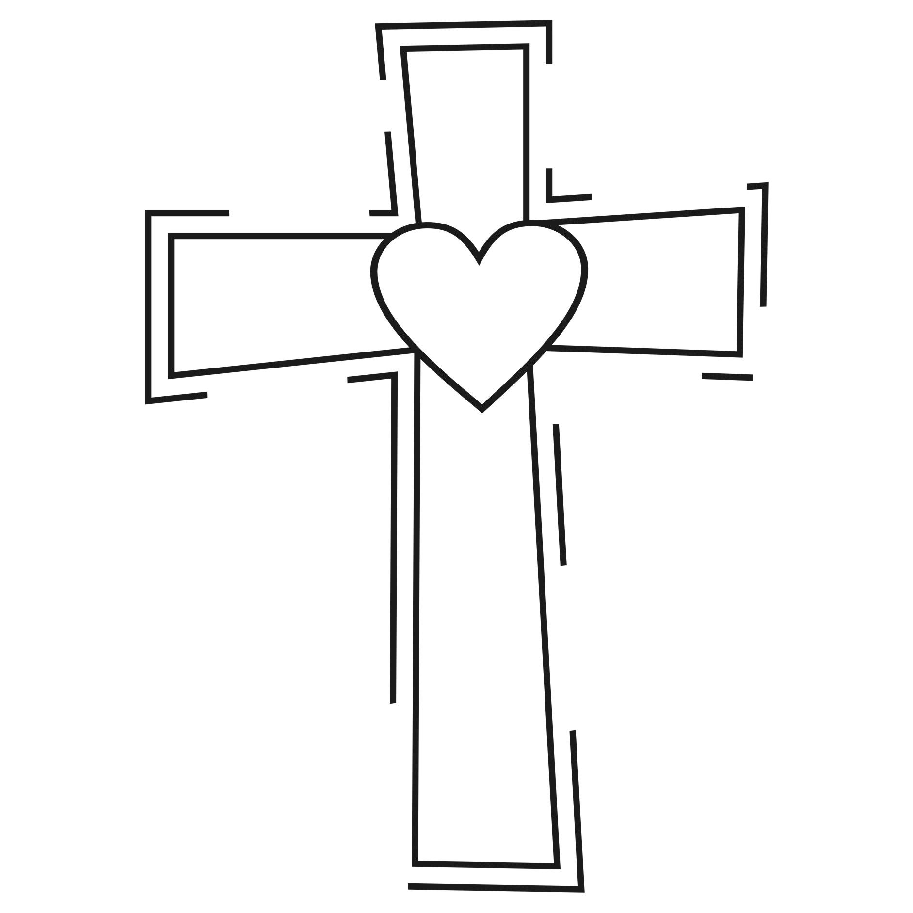 Clipart Design Ideas Clipart Religious Heart Cross