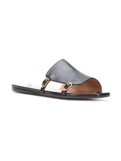 1b1ca6cfa L Autre Chose Buckled Slide Sandals - Farfetch