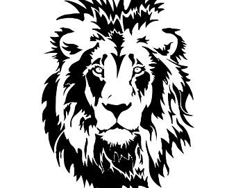 Lion 7 Leopard Jaguar Wild Cat Spots Wildlife Wild Animal Zoo Etsy Lion Stencil Lion Silhouette Animal Stencil