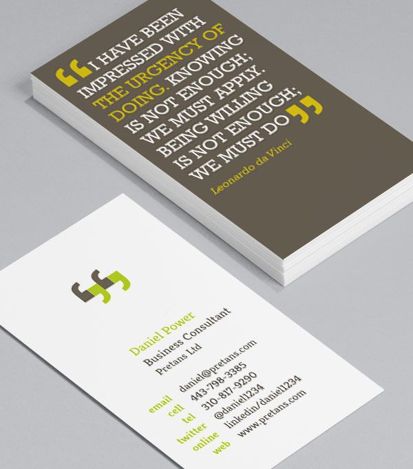 You can quote me part inspiration part mission statement and part you can quote me part inspiration part mission statement and part conversation starter what more could you want from a business card reheart Images