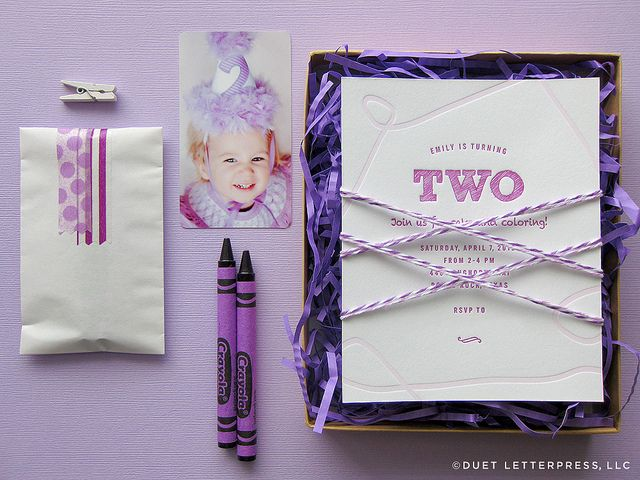 harold and the purple crayon themed party and sweet letterpress invitation- cute!