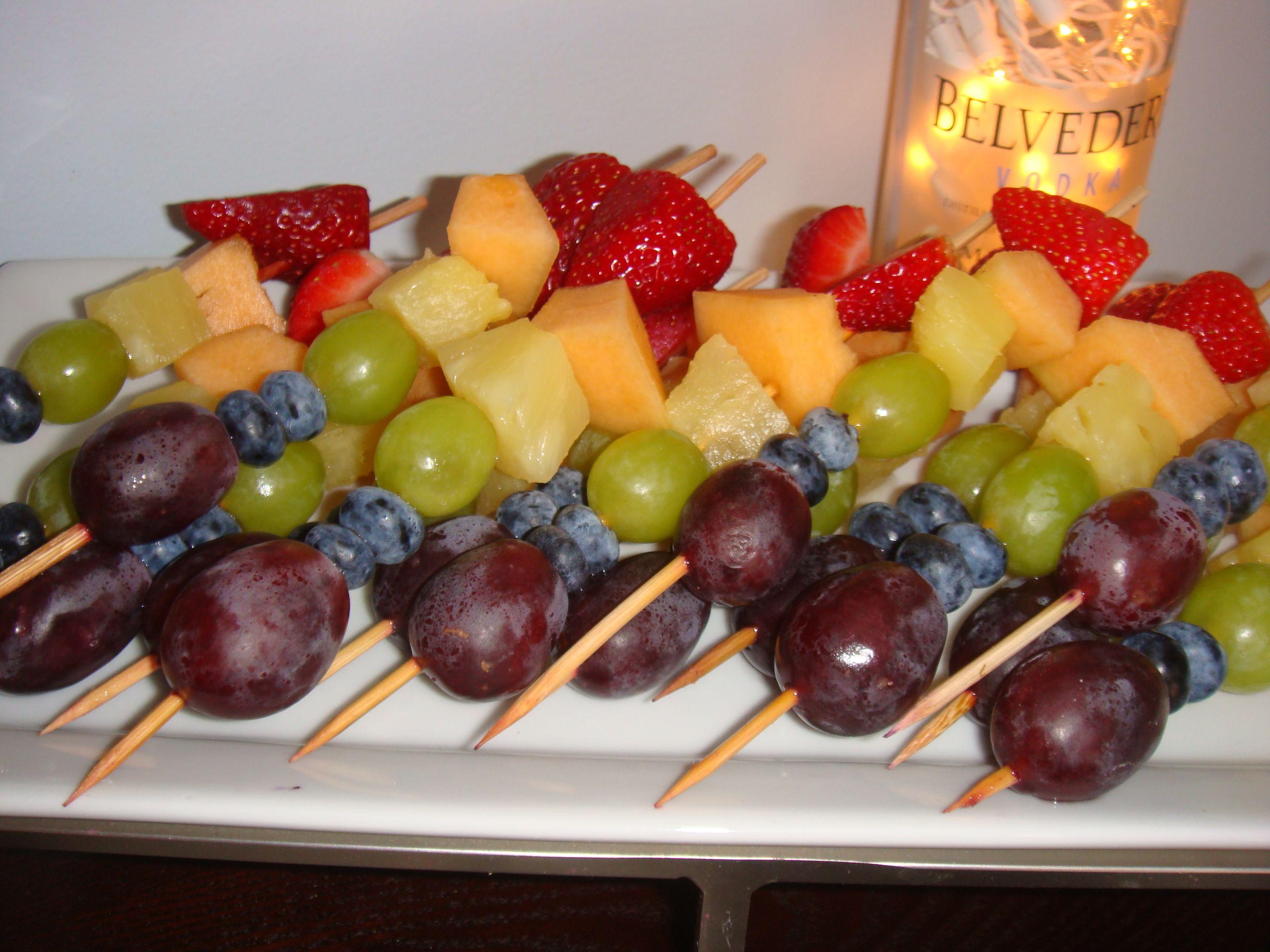 Roy G Biv Rainbow Fruit Kabobs