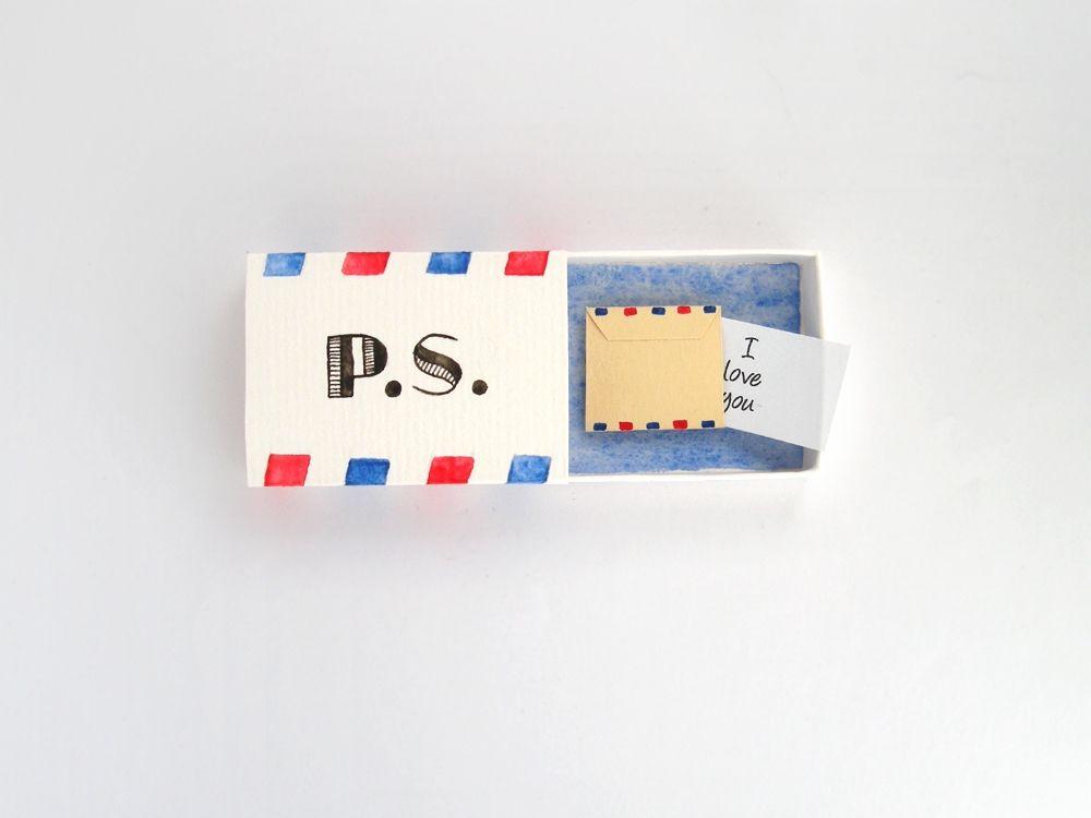 Personalized wedding keepsake box love letter ceremony rustic
