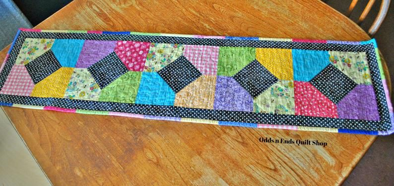image 5 Quilted table runner, Kitchen decor, Quilt shop