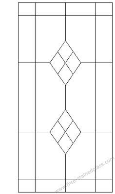 Geometric Stained Glass Patterns Rectangle Simple Geometric
