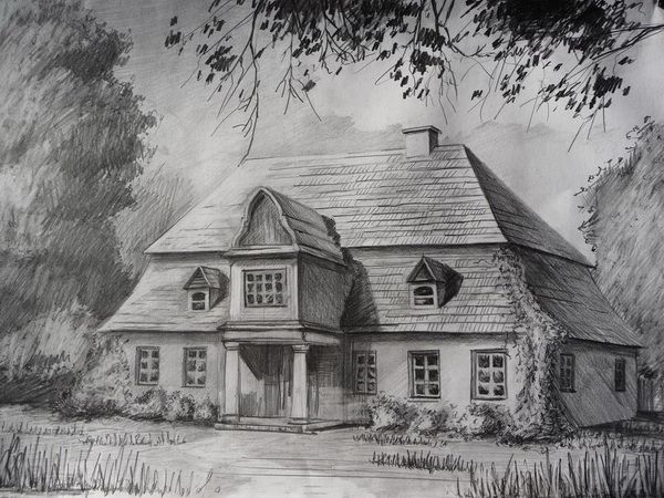 10 Beautiful House Pencil Drawings For Inspiration With Images