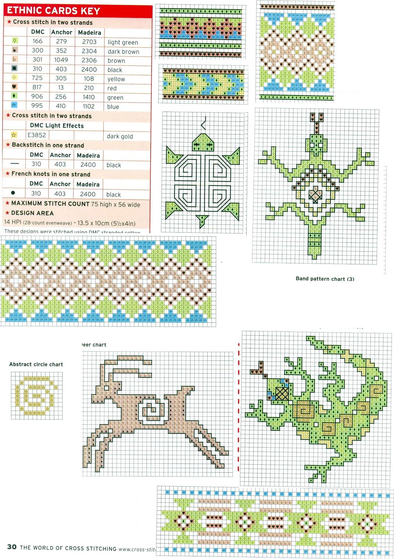 Схема вышивки этно