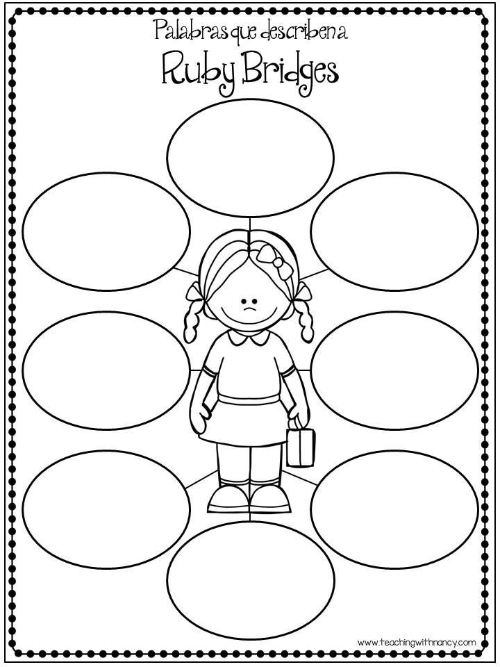 Free download ruby bridges en espa ol worksheets for Ruby bridges coloring pages