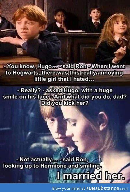 Xd deny deny Hermione we all know u love Draco | Harry ...  |Love Harry Potter Ron Meme