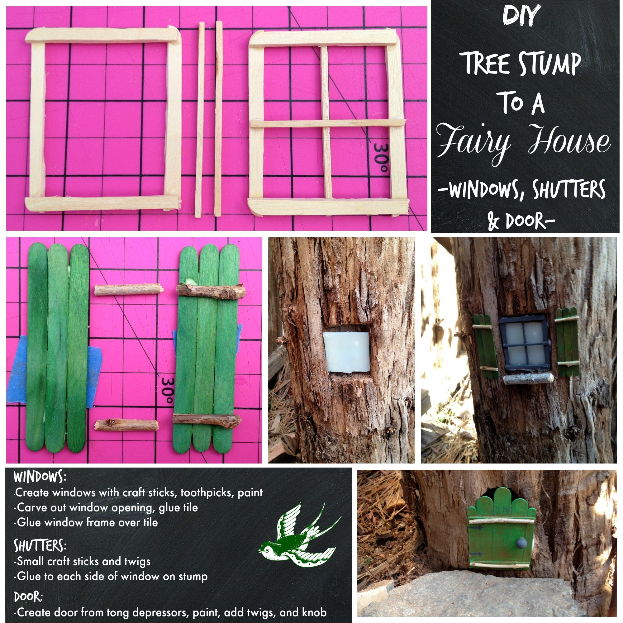 Give me glitter a needle and thread fairy house tree for Fairy doors for sale