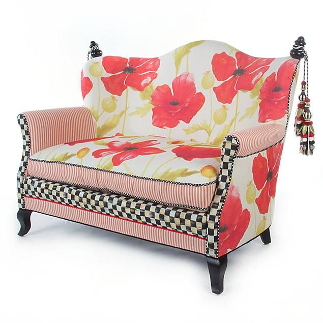 Prime Mackenzie Childs Poppy Loveseat I Love This Mack C Creativecarmelina Interior Chair Design Creativecarmelinacom