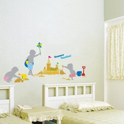 Sand Castles Mural Wall Stickers Home Art Deco Wall Decals