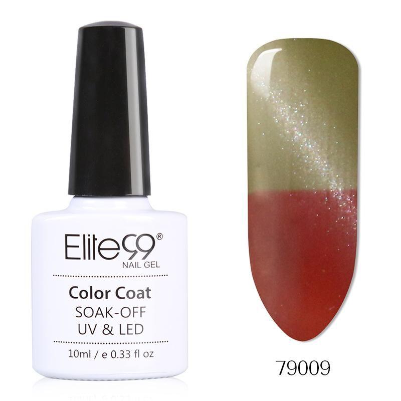 Elite99 1Pcs Temperature Color Changing Cat Eye Gel Polish Varnish Manicure Soak Off 3D Effect Mood Gel Lacquer Polish