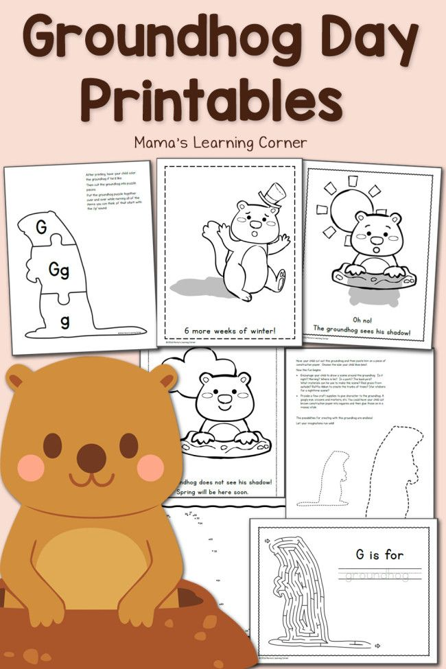 Free Groundhog Day Printables! | Best of Mama's Learning Corner ...