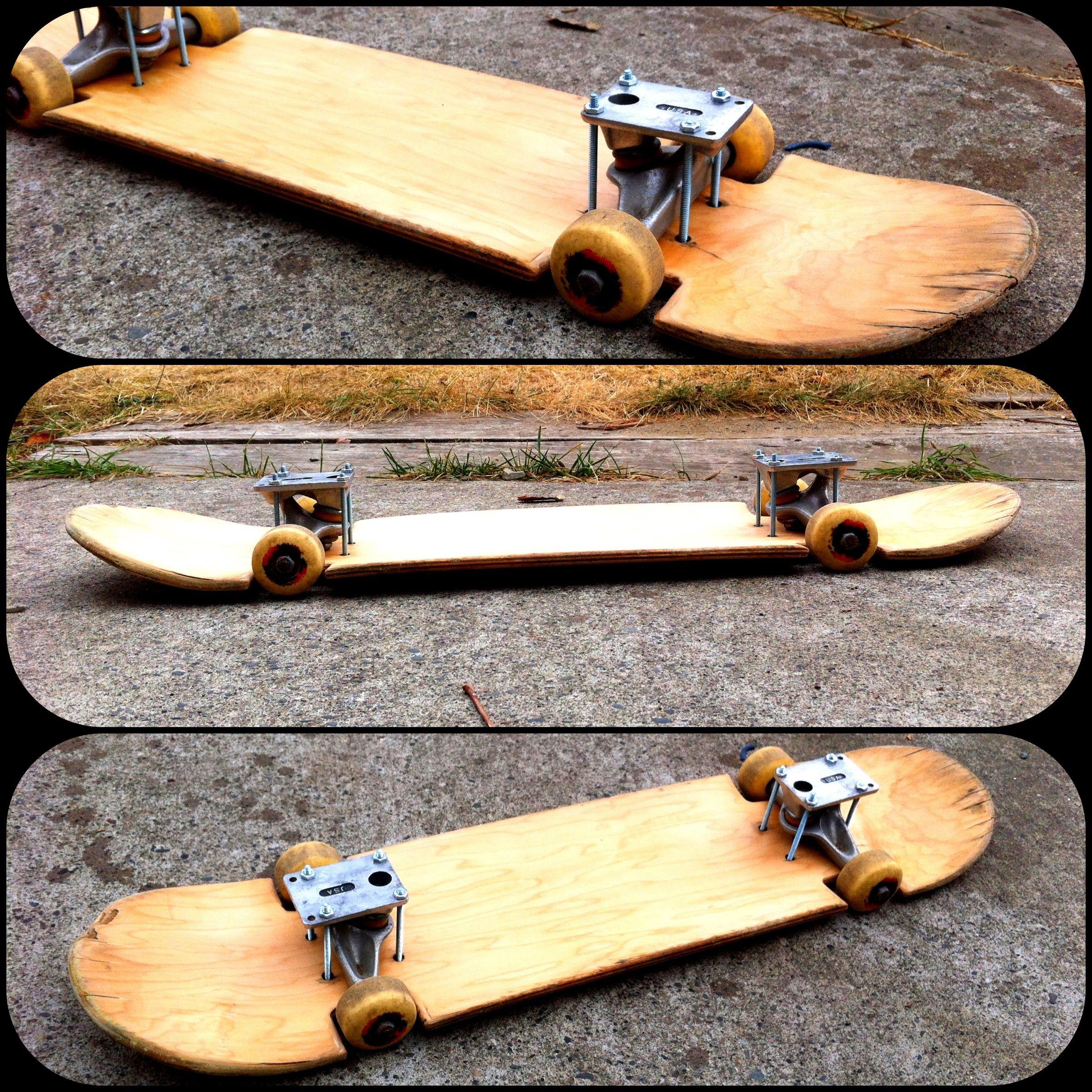 how to make a slammed skateboard