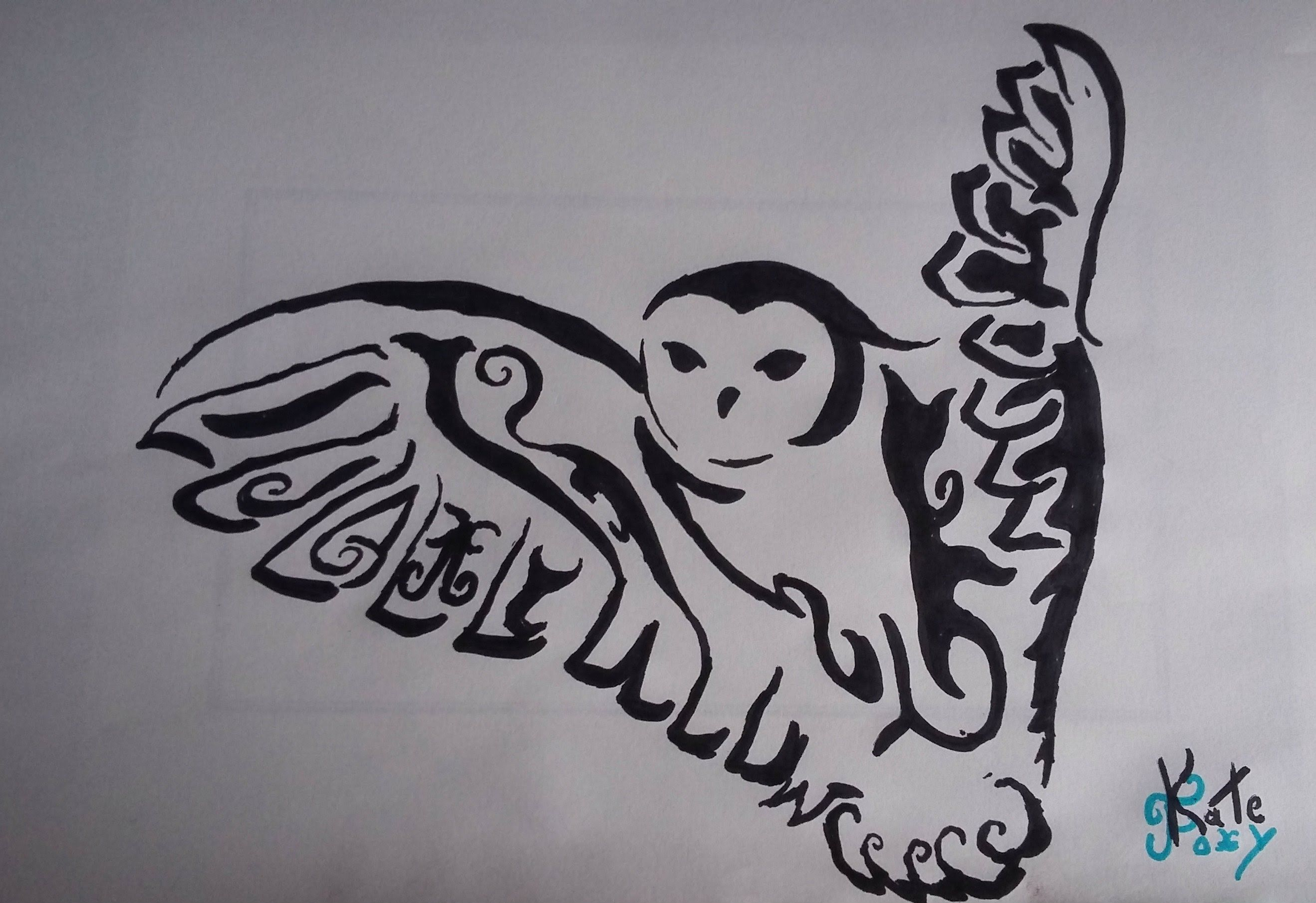 Drawings owl Tribal pictures