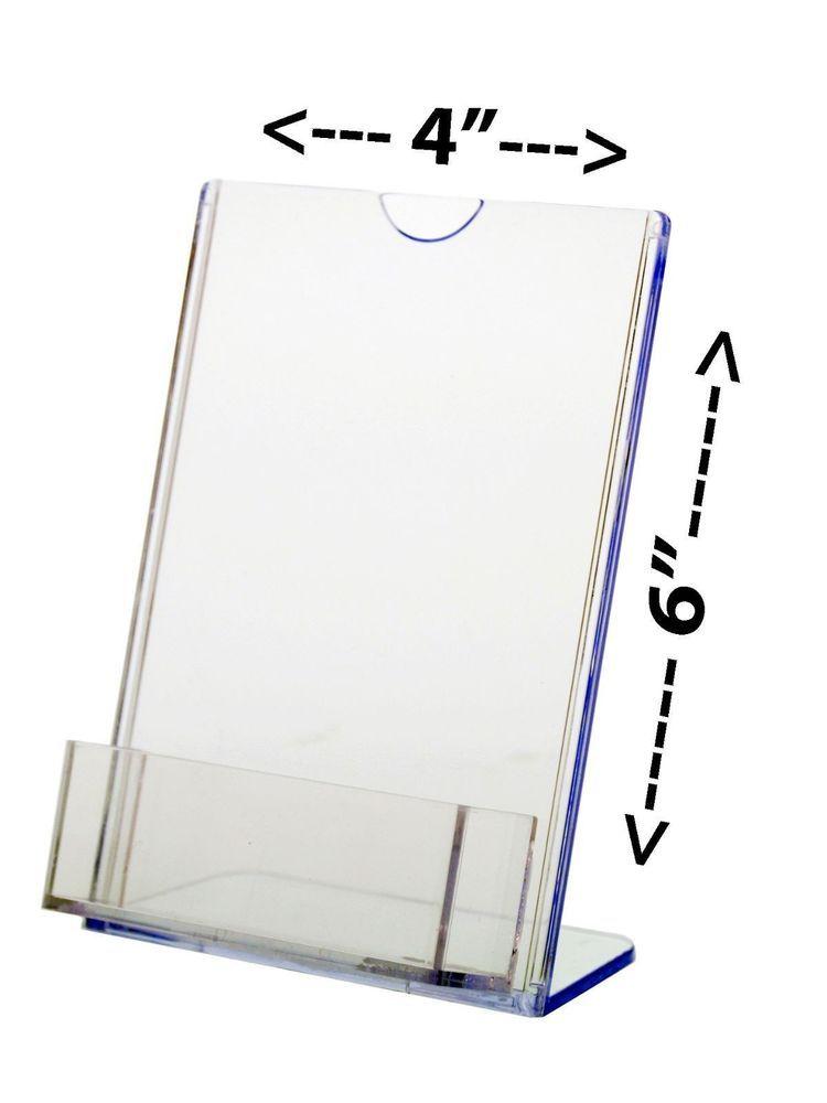 Lot Of 6 Slant Back Table Tent Tru Vu Brochure Tri Fold With