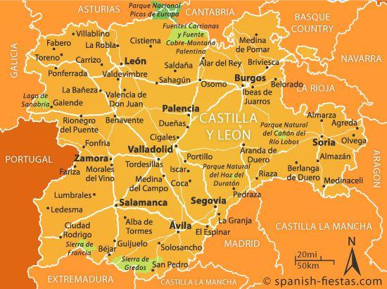 Map Of Spain Leon.Map Of Castilla Y Leon Castilla Y Leon Spain Travel