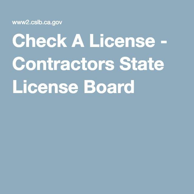 Check A License Contractors State License Board Contractors License Contractors Business Names