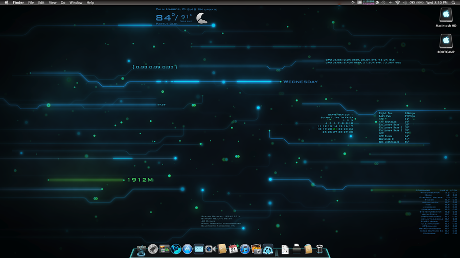 Tron Mac Theme by Fleek968 on deviantART | Heads Up | Mac