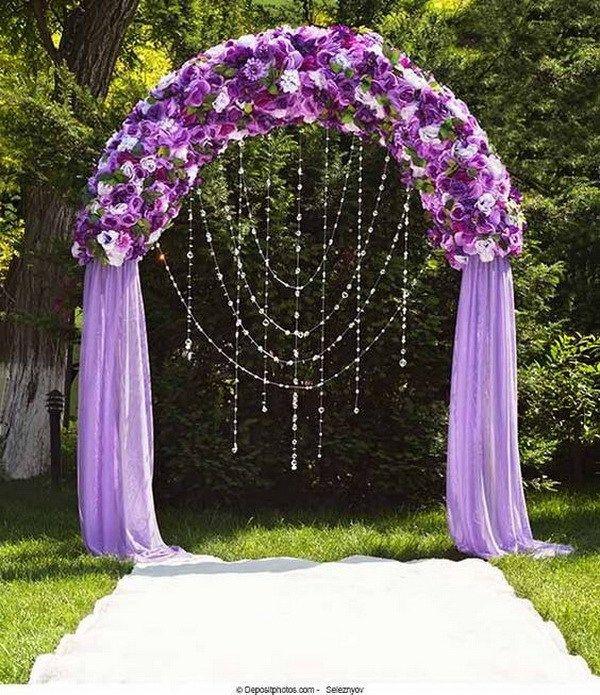 20 beautiful wedding arch decoration ideas beach wedding royal purple wedding arch what a beautiful wedding arch decoration idea love it junglespirit Choice Image