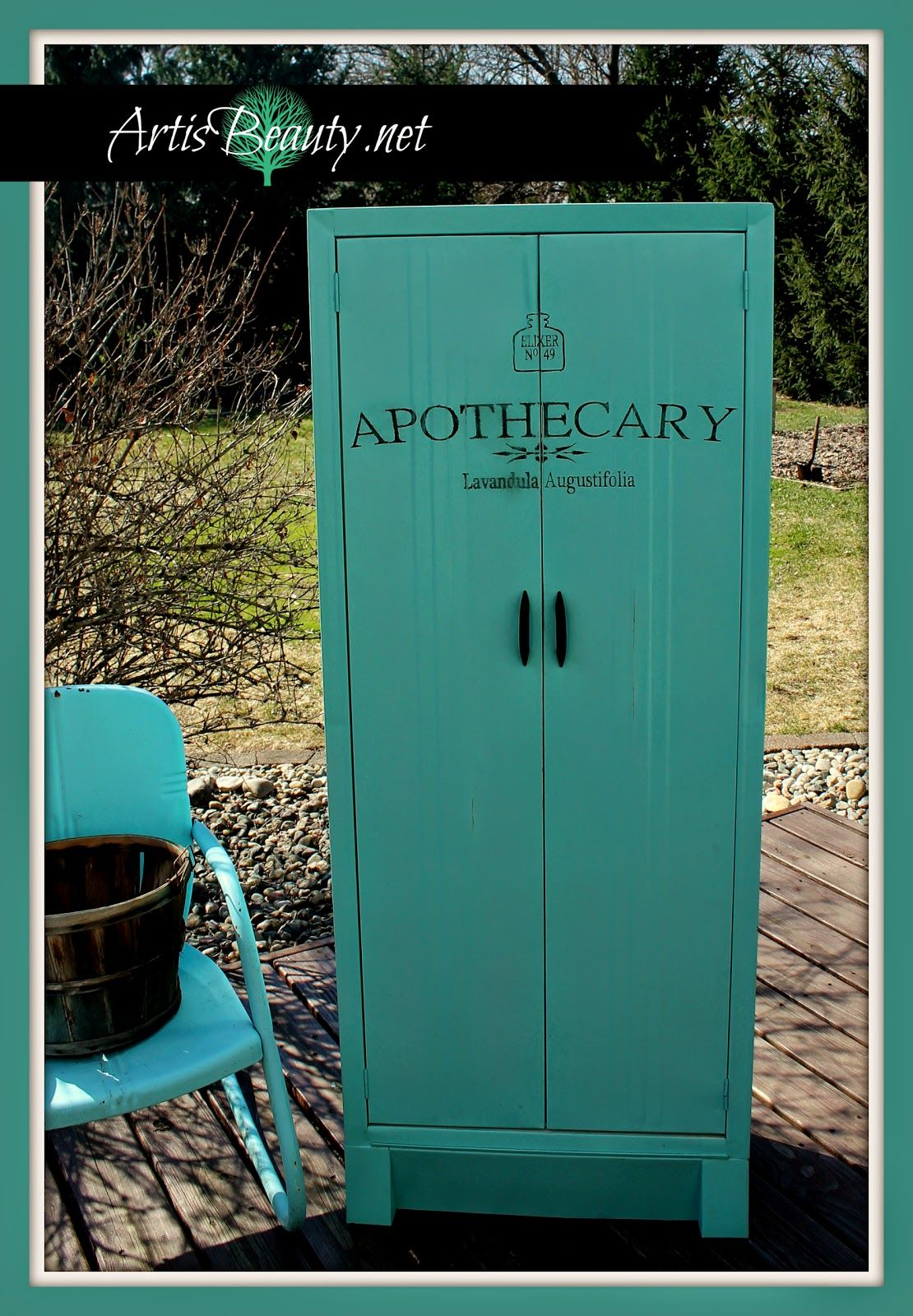 vintage-metal-apothecary-cabinet-with-graphic-art-is-beauty ...