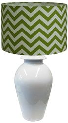 Preppy lamp shade. Ada and Darcy. in yellow or grey would be stunning