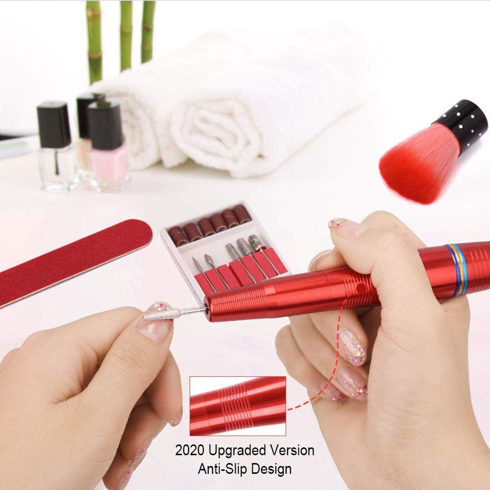 Portable Electric Nail Drill Kit Usb Manicure Pedicure E File Professional Acrylic Nail In 2020 Nail Drill Acrylic Nail Kit Manicure And Pedicure