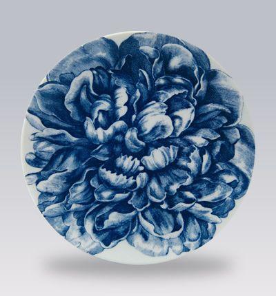 Love the Caskata Blue Peony Canape Plates