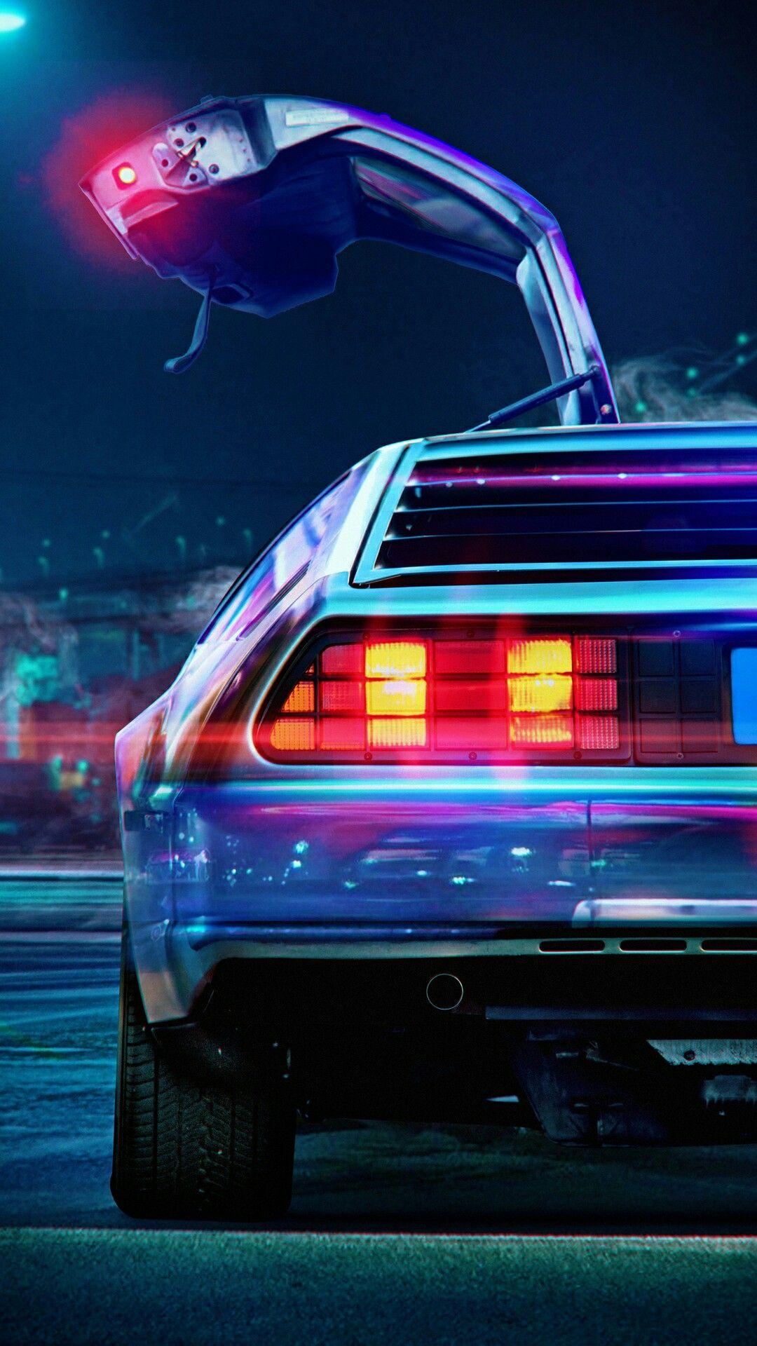 Pin by Mia W. on Cars iPhone Wallpaper   Delorean, Neon ...