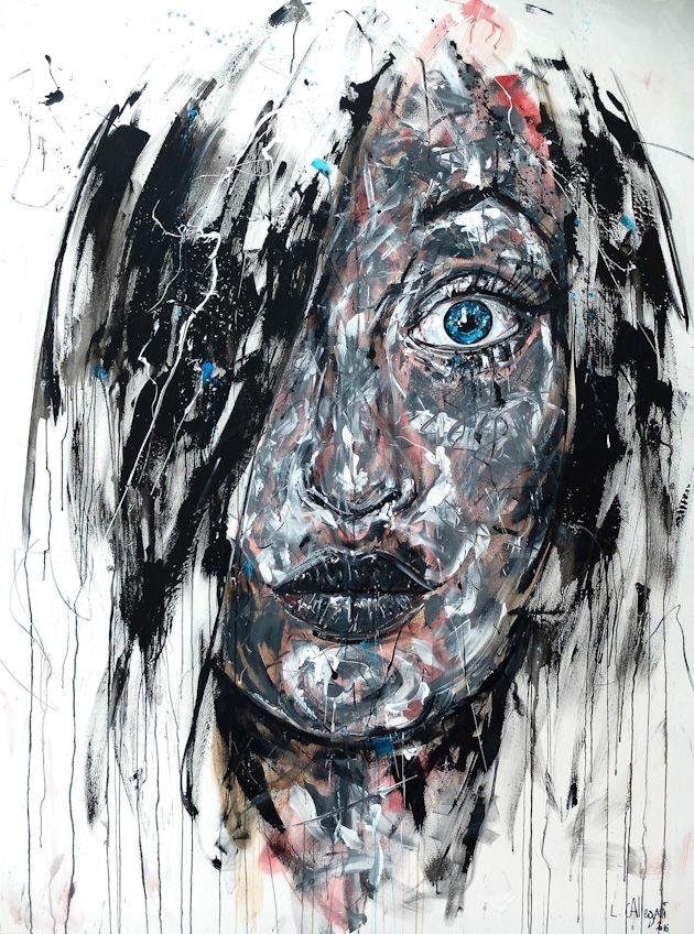ANNA Acrylique  fusain sur toile 200x150cm 2016   wwwlucile