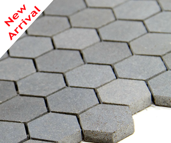 Gl Tile Basalt Hexagon Mosaic 1 Mesh Mounf Sheet Granite