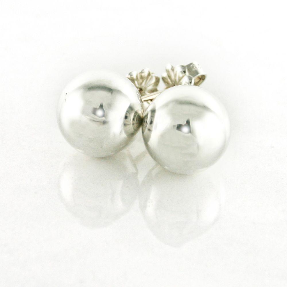 2e92239cef5b4 Tiffany & Co. 10mm Ball Bead Stud Earrings in 925 Sterling Silver w ...